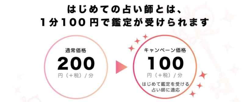 電話占いミスティーラインの鑑定100円の画像