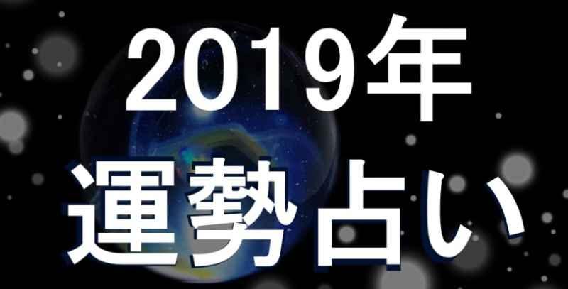 2019年の運勢を占う画像